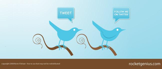 iconos y botones de twitter